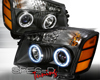 SpecD Black CCFL Halo LED Projector Headlights Nissan Armada 05-07