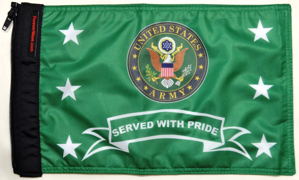 Forever Wave Army Served With Pride Flag - 5370