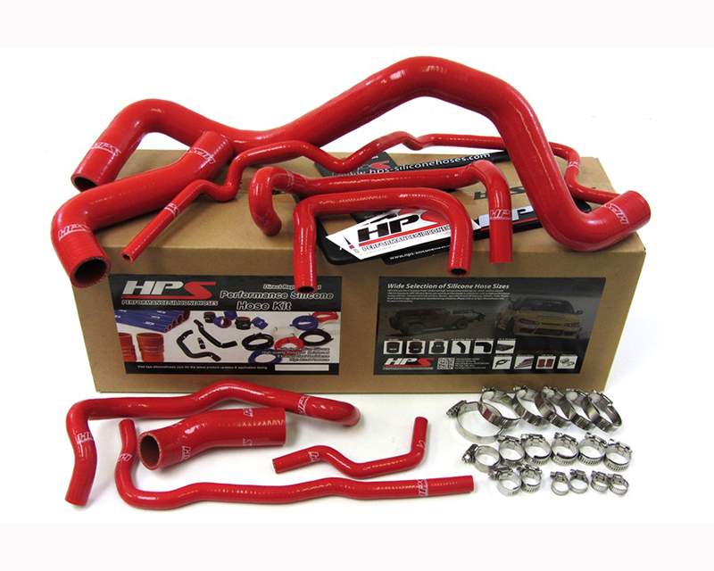 HPS Silicone Radiator Hose Red Volkswagen GTI Mk4 1.8T Turbo Left Hand Drive 99-06 - 57-1213-RED-1