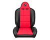 Corbeau Baja RS Suspension Seat in Black Vinyl / Red Cloth 66407