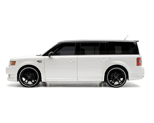 3dCarbon Left Front Door Skirt Ford Flex 09-13