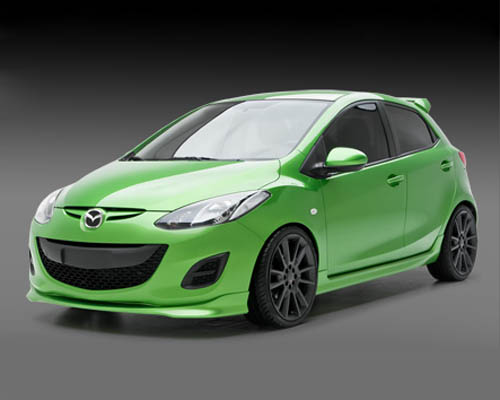 3dCarbon 4PC Body Kit Mazda Mazda2 Sport Touring 11-14