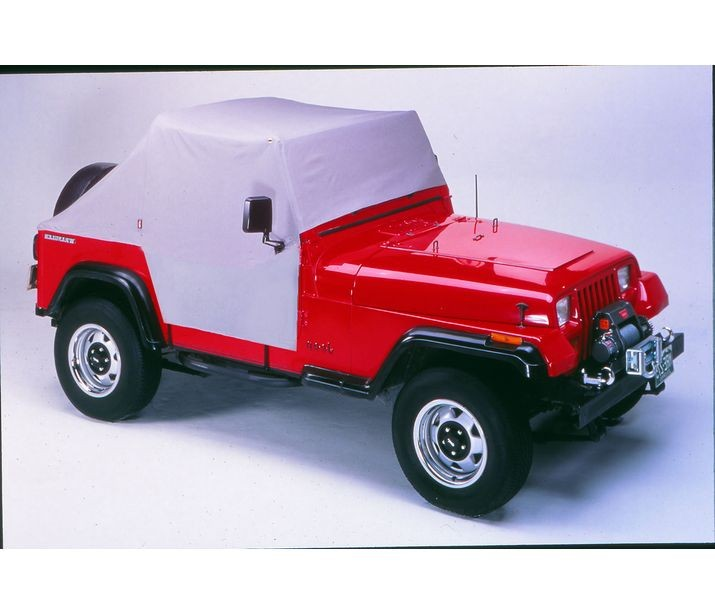Jeep CJ/YJ Trail Cover All Weather For 76-91 Jeep CJ-7/YJ Wrangler Charcoal/Gray Bestop