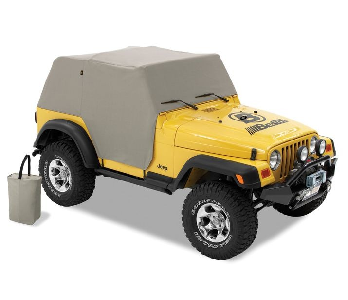 Jeep TJ Unlimited Trail Cover All Weather For 04-06 Jeep Wrangler TJ Unlimited Charcoal/Gray Bestop