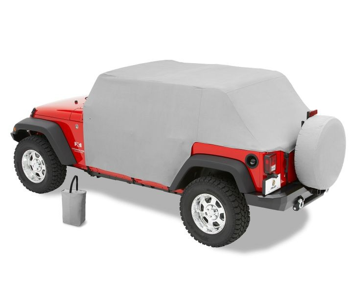 Jeep JK Unlimited Trail Cover All Weather For 07-17 Jeep Wrangler JK Unlimited Charcoal/Gray Bestop