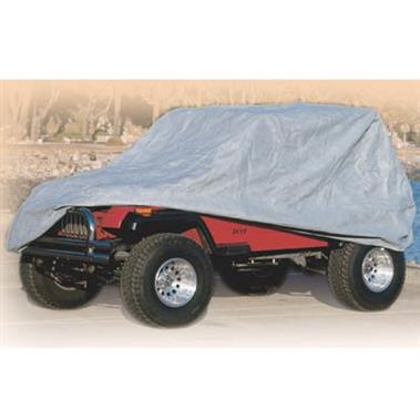 Complete Car Cover 04-06 Wrangler Unlimited/Rubicon Unlimited Gray W/Storage Bag Smittybilt