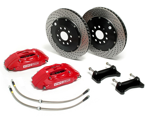 StopTech 13 Inch 4 Piston Front Brake Kit Mini Cooper (Incl S) 01-06
