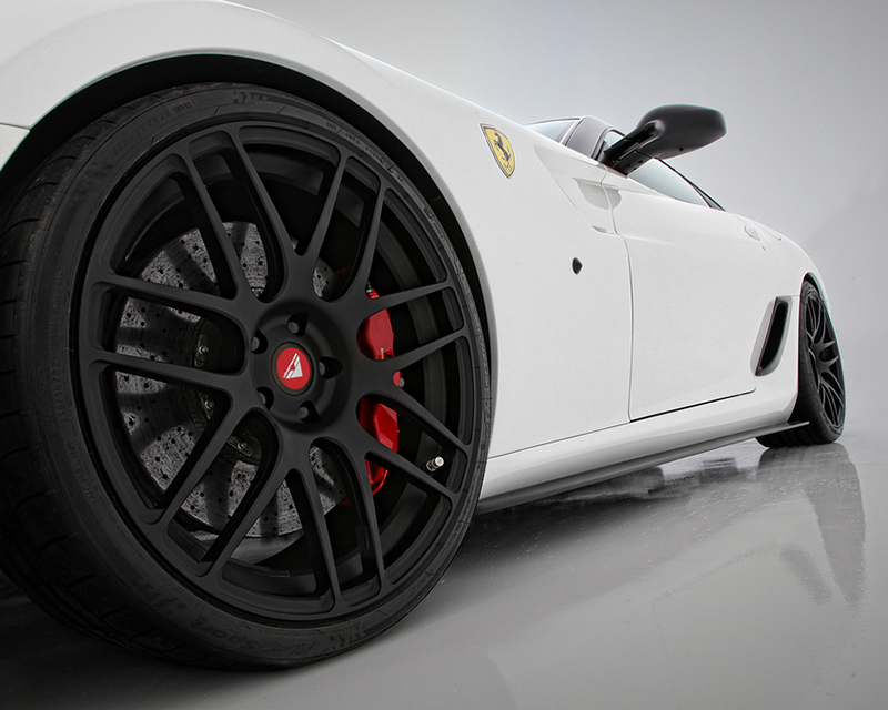 Vorsteiner 599-VX Carbon Fiber Side Skirt Extension Blades Ferrari 599 06-12