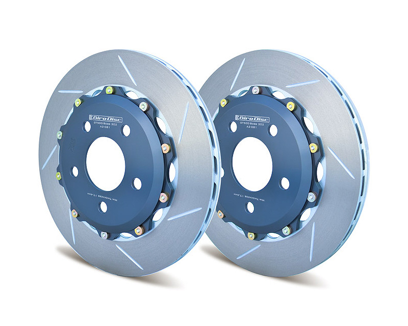 Girodisc Rear 2 Piece Floating Rotors Ford Mustang GT w/Brembo Calipers 11-14 - A2-081