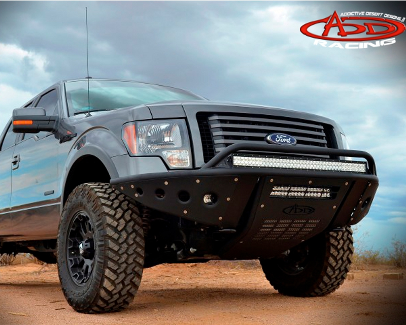 Addictive Desert Designs Ecoboost Standard Front Bumper With Stealth Panels Ford F-150 11-14