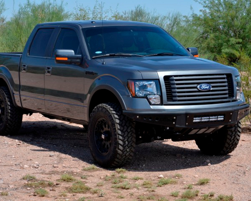 Addictive Desert Designs Ecoboost Venom Front Bumper With Stealth Panels Ford F-150 11-14