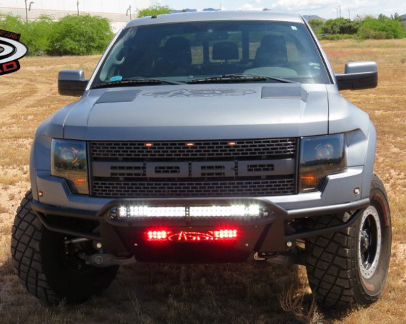 Addictive Desert Designs Front Bumper With 30inch LED Mount In Top Hoop No Stealth Panels Ford Raptor Svt 10-14