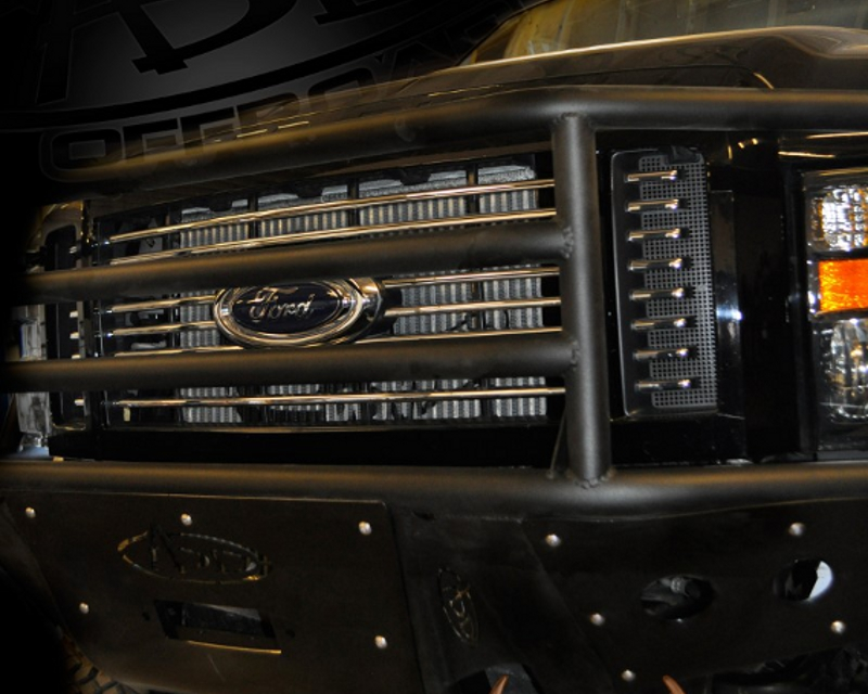 Addictive Desert Designs Rancher Front Bumper With Stealth Panels Ford F-250 | 350 08-10