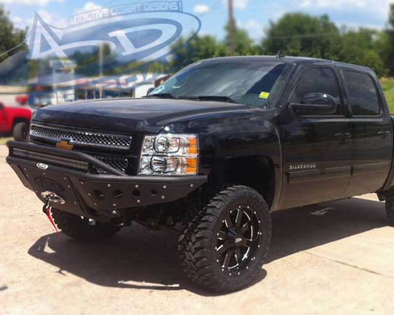 Addictive Desert Designs Standard Front Bumper With Stealth Panels Chevrolet Silverado 1500 07-14