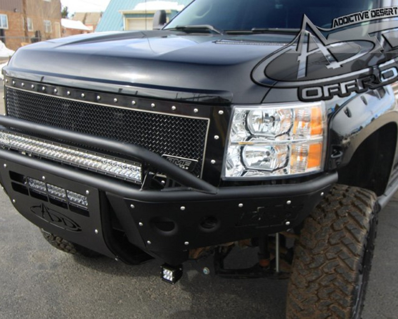 Addictive Desert Designs Standard Front Bumper With Stealth Panels Chevrolet Silverado 2500 | 3500 07-10