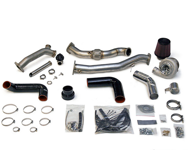 AMS Performance Rotated Mount 750R V band Turbo Kit with 38mm Wastegate Flanges and HFC Pipe Subaru WRX | STI 02-07