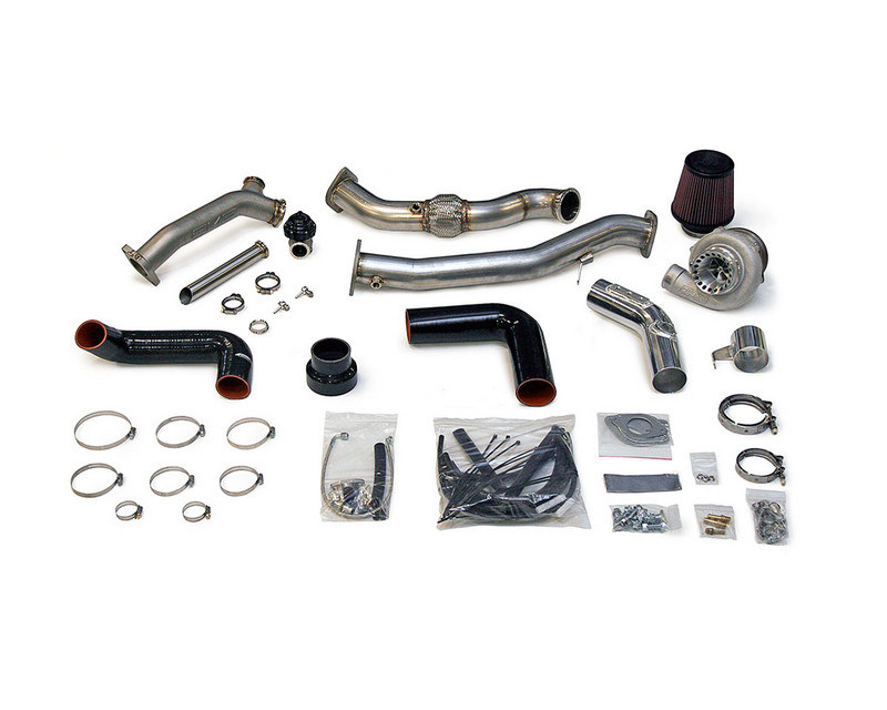 AMS Performance Rotated Mount 950R V band Turbo Kit with 44mm Wastegate Flanges and HFC Pipe Subaru WRX | STI 02-07