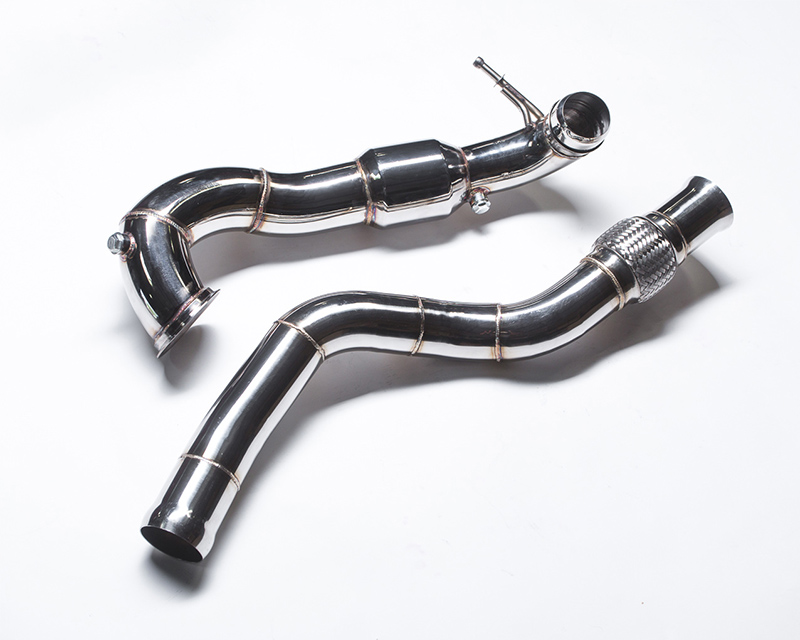 Agency Power Highflow 200 Cell Catted Two Piece Downpipe Mercedes Benz A45 AMG 13-15