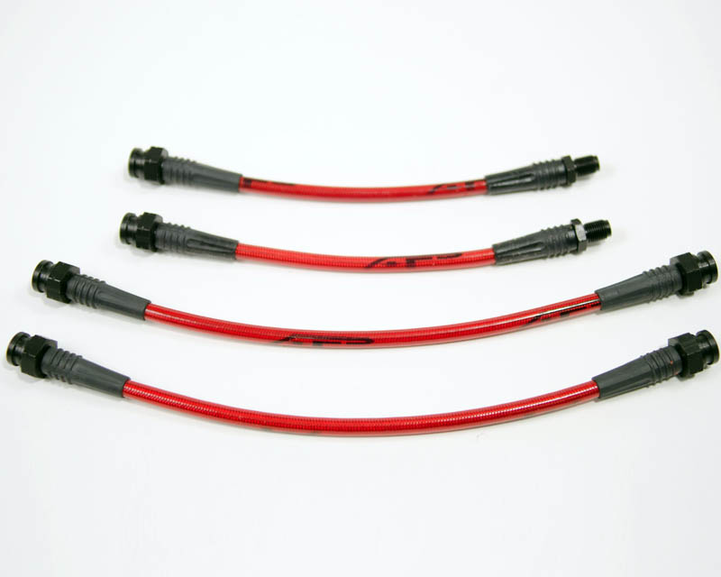 Agency Power Front Steel Braided 4pc Brake Line Kit Mitsubishi Eclipse 90-94 - AP-DSM1GA-405