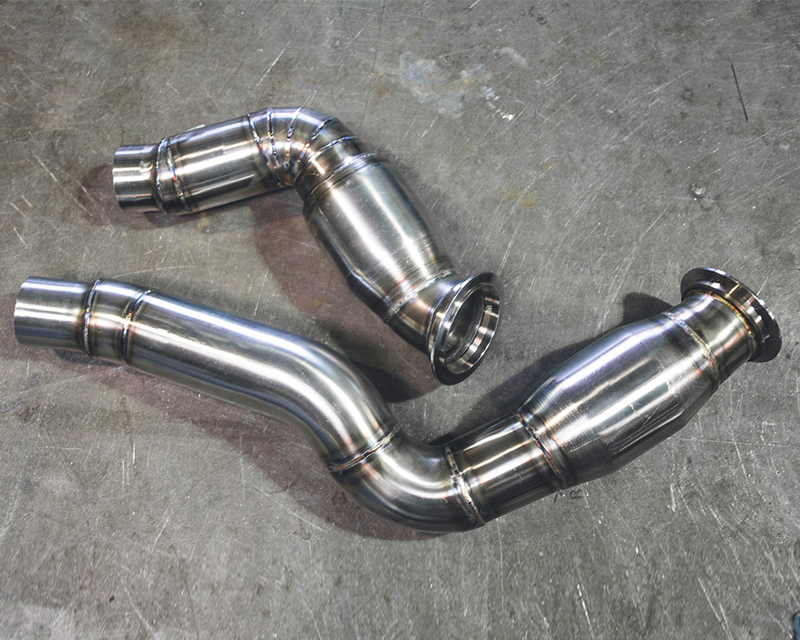 Agency Power High Flow Catted Stainless Steel Down Pipes BMW M3 F80 2015