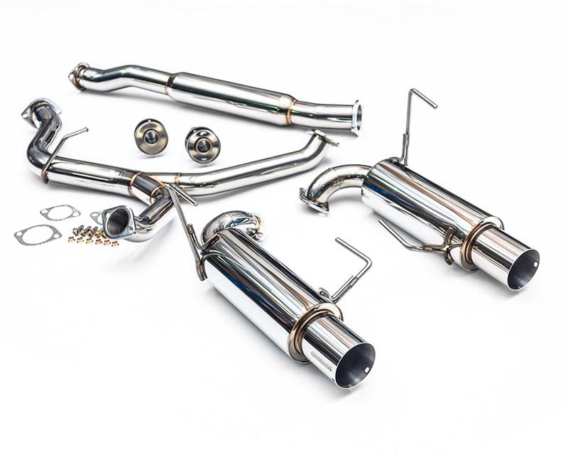 "Agency Power Catback Exhaust System with Dual 4"" Stainless Steel Tips Subaru WRX STI Sedan 08-17 - AP-GE-170S"