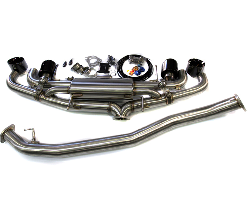 Agency Power Electronic Valve Controlled 90mm Exhaust Muffler with Black Chrome Tips Nissan R35 GT-R 09-16
