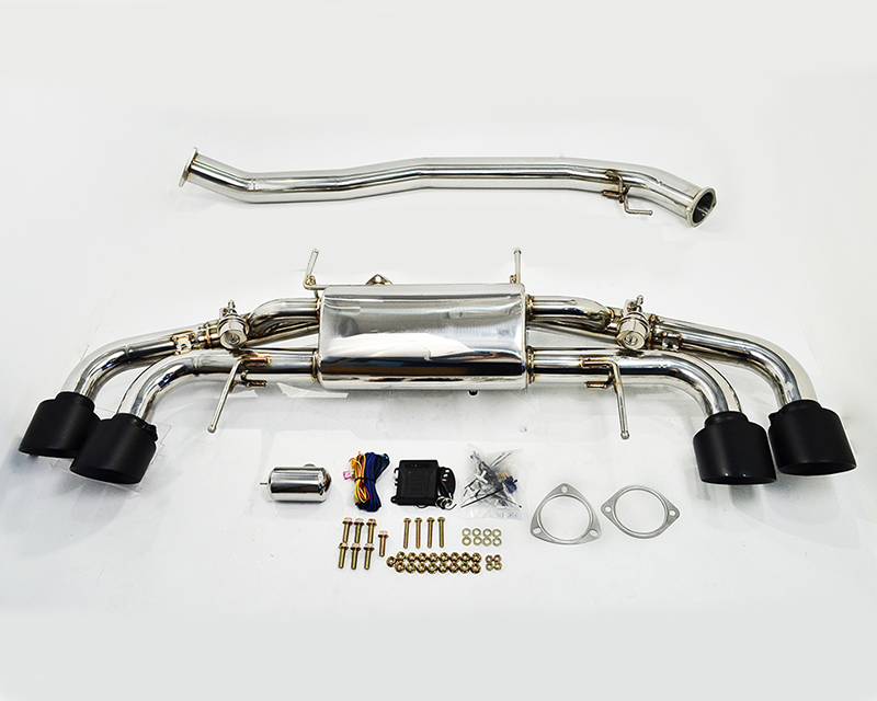 Agency Power Electronic Valve Controlled 90mm Exhaust Muffler with Matte Black Tips Nissan R35 GT-R 09-16