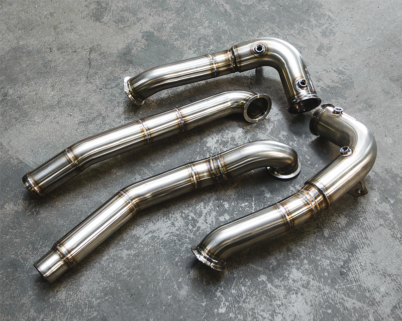 Agency Power Race Downpipes with Midpipe Mercedes-Benz AMG GT-S 15-16