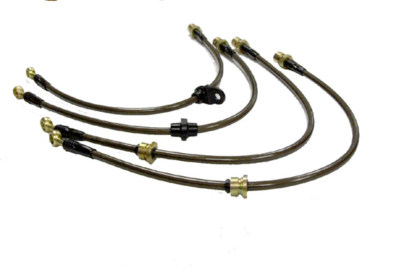 Agency Power Front Steel Braided Brake Lines Ford Mustang Cobra 94-98