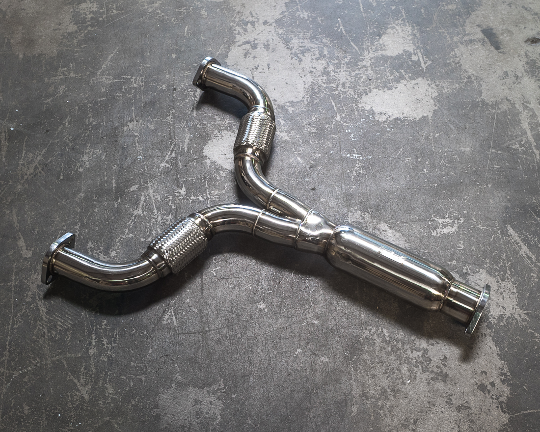 Agency Power Stainless Steel Y-Pipe Infiniti G37 09-14