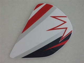 Arai Astral Parkes Star Red Side Pods
