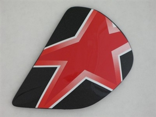 Arai Astral Star Flag Red Side Pods