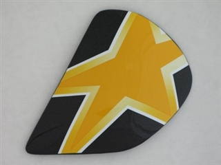 Arai Astral Star Flag Yellow Side Pods