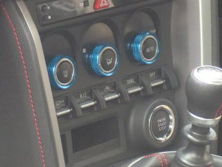 Arrows Air Conditioning Dial Caps Blue Color Toyota GT86 | Scion FR-S 13-18