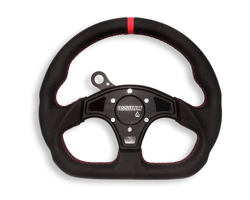 Assault Industries Ballistic D Leather Steering Wheel Quick Release Kit with Black Stitching Arctic Cat Wildcat Sport 15-16