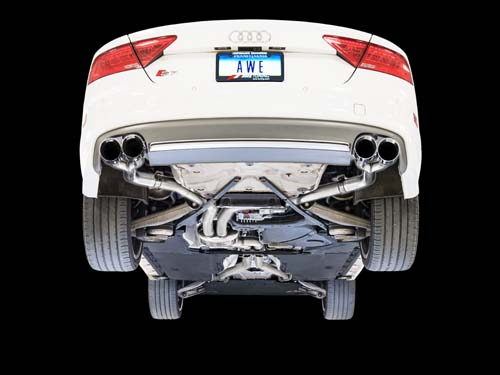 3020-42042 AWE Tuning   Track Edition Exhaust Chrome Silver Tips