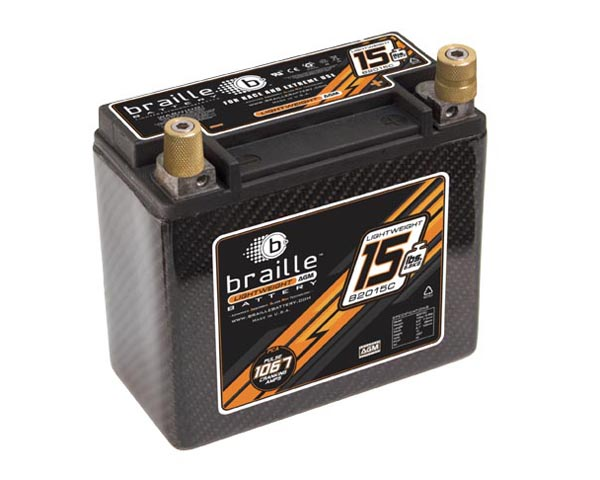 Braille Carbon Fiber Advanced AGM Battery | 1067 Amp | 7 x 3 x 6  inch | Right Positive