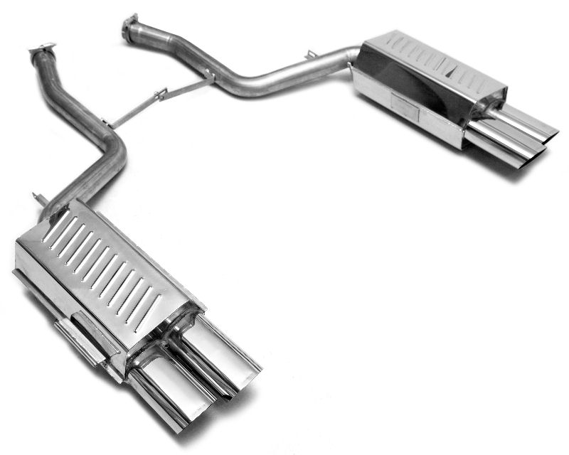 Eisenmann Axleback Exhaust System with Flat Oval Tips BMW E38 750i 95-01