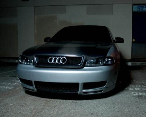 Advan Carbon Euro Black Boser Design Carbon Fiber Hood Audi A4 02-04