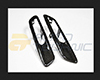 AutoTecknic Replacement Real Carbon Fiber Fender Light Trims BMW F10 Sedan | F11 Wagon | 5 Series 11-15