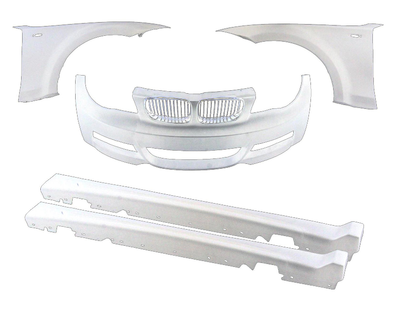 Evolution Racewerks 5 Piece FRP Front End Widebody Kit BMW 128i E82 | E88 08-14