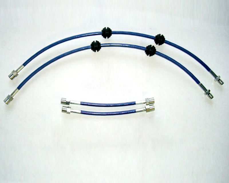Evolution Racewerks Blue Stainless Steel Braided Brake Lines Basic Kit BMW 135is 2013
