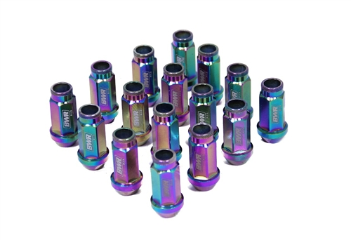 Blackworks Racing 16 Piece 17mm Neochrome Steel Series Lug Nut Set
