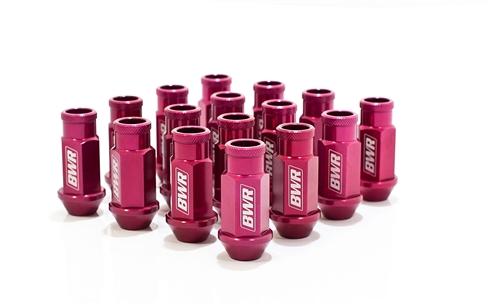 Blackworks Racing 16 Piece Aluminum Series Pink Lug Nut Set