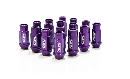 Blackworks Racing 16 Piece Aluminum Series Purple Lug Nut Set