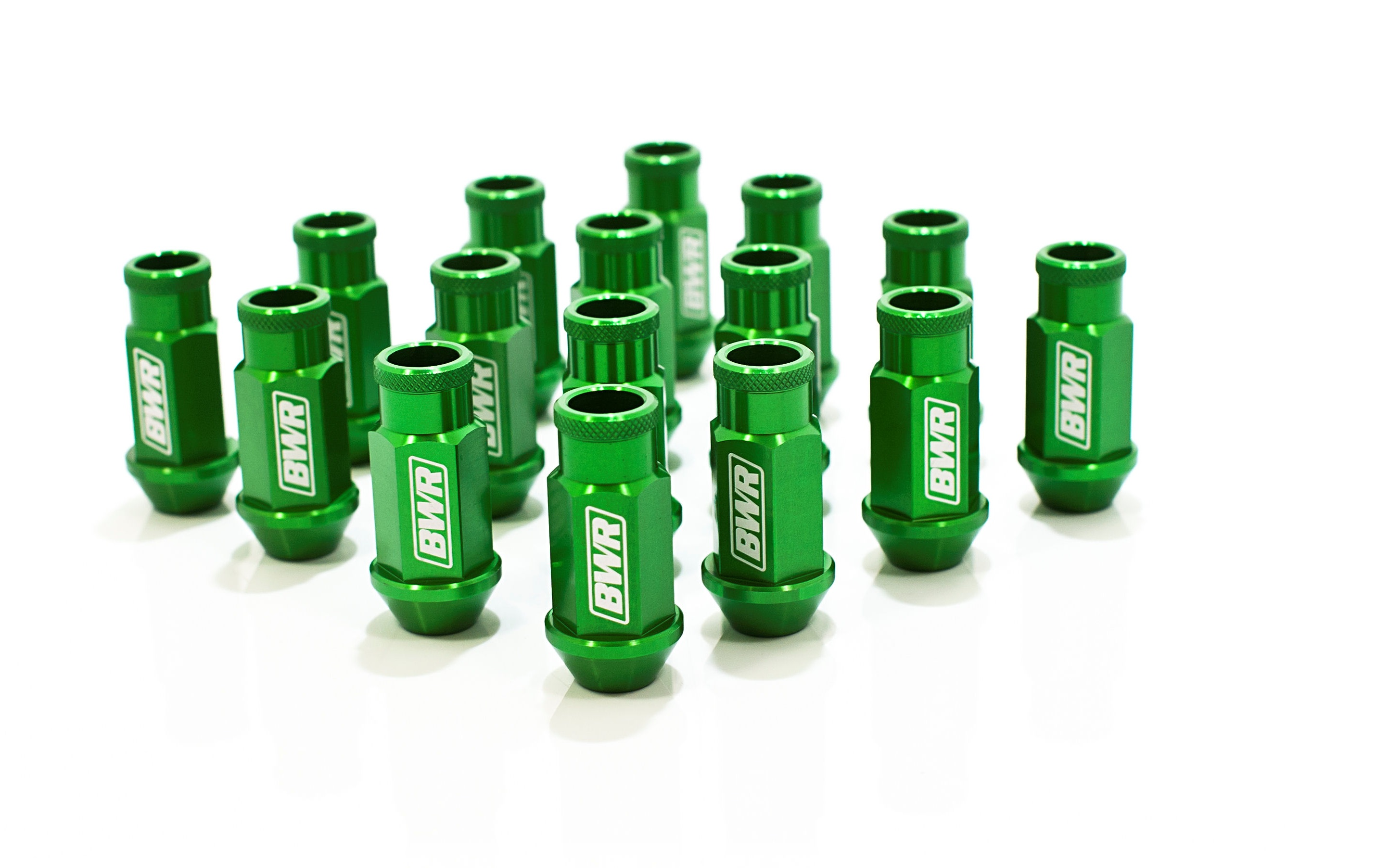 Blackworks Racing 16 Piece Aluminum Series Green Lug Nut Set