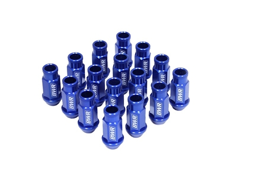 Blackworks Racing 16 Piece Aluminum Series Blue Lug Nut Set