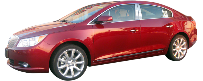 Full Length WZ50520 QAA fits 2010-2013 Buick Lacrosse 4 Piece Molded Stainless Steel Wheel Well Fender Trim Molding