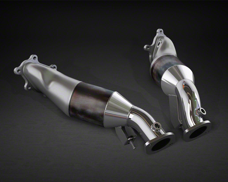 Capristo 200 Cell Catted Stainless Steel Downpipe Pair Nissan GTR 09-17