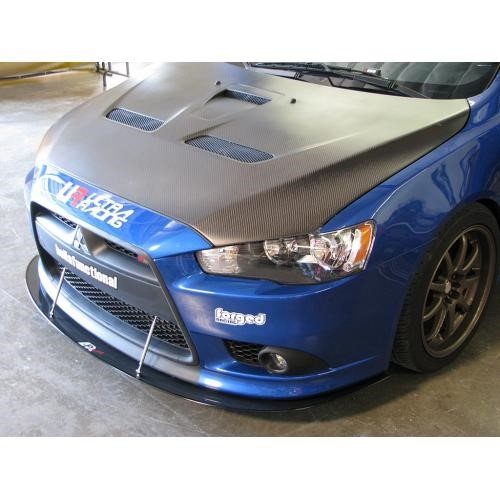 Apr Performance Carbon Fiber Wind Splitter With Rods Mitsubishi Lancer Ralliart 2009 2016 Cw 410099